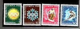 41882 - SUISSE 4 TP - Inverno1948: St-Moritz