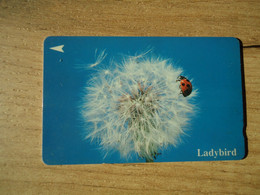 SINGAPORE USED CARDS  INCECTS LADYBIRD - Coccinelle