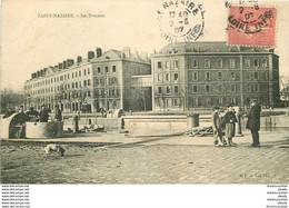 Promotion Club 2 X Cpa 44 SAINT-NAZAIRE. La Douane 1907 Et Pont De L'écluse 1916 - Saint Nazaire