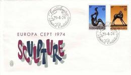 LUXEMBOURG MI-NR. 882-883 FDC EUROPA CEPT 1974 SKULPTUREN - FDC