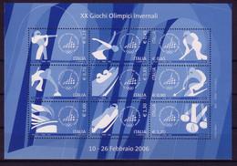 ITALIEN MI-NR. 3081-3089 POSTFRISCH(MINT)KLEINBOGEN WINTEROLYMPIADE TURIN 2006 - Blocks & Kleinbögen