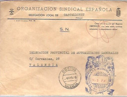 CARTA   1970 GOMIGRAFO .E.T Y LAS J.O.N.S  CASTELLONET - Franquicia Postal