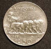 LOT ITALIE - 50 CENTESIMI 1920 ( Tranche Lisse Et Tranche Striée ) - Victor-Emmanuel III - KM 61.1 Et KM 61.2 - 1900-1946 : Victor Emmanuel III & Umberto II