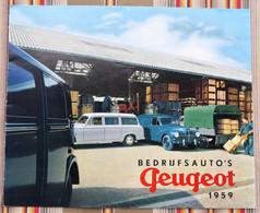 Publicite Utilitaires PEUGEOT1959  BEDRIJFSAUTO'S 403 203 D4A - Practical