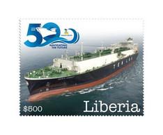 LIBERIA 2020 MNH 50 Years Tsakos Group Ship Schiff Navire 1v - OFFICIAL ISSUE - DHQ2102 - Bateaux