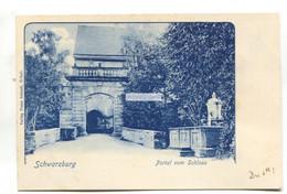 Schwarzburg - Portal Vom Schloss - Early Germany Postcard - Other