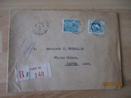 1944 Yt 643 Marianne Alger 4 F  Sur Lettre - 1921-1960: Moderne