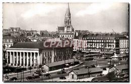 CPA Nantes La Bourse La Placde Du Commerce Et Le Clocher De L&#39Eglise Saint Nicolas - Nantes