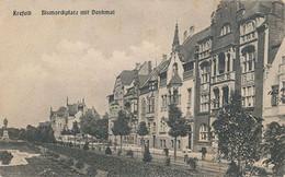 KREFELD - BISMARCKPLATZ MIT DENKMAL - Krefeld