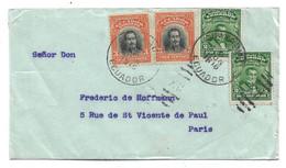 Ecu073 / ECUADOR - Dr. Noboa + General Robles Valdes, Guayaquil - Paris 1916 - Equateur
