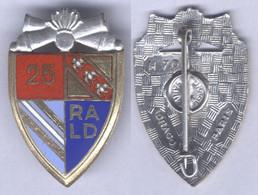 Insigne Du 25e Régiment D'Artillerie Lourde Divisionnaire - Esercito