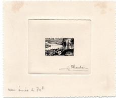 GIRONDE - Dépt N° 33 = BORDEAUX 1955 = EPREUVE D' ARTISTE NON EMIS N° 1036  à 70 F + Signée PHEULPIN - Artist Proofs
