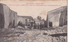 Guerre 1914, Bonviller, Rue Principale Après Le Bombardement, Août 1914 - War 1914-18