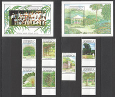 G1199 1992 DOMINICA FLORA BOTANICAL GARDENS 7ST+2BL MNH - Trees