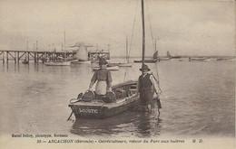 33 - ARCACHON - Ostréiculteurs - Retour Du Parc Aux Huitres . - Arcachon