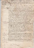 MANUSCRIT 1656--GUILLAUME GAUTLTIER-SERGENT ROYAL-LA COMMANDERIE DE PRAILLES-79-- - Manuscripten