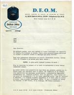 LYON- D E O M- SPORTS- MENAGE- CAMPING-GAZ BIDON BLEU TOUS USAGES- PROPAGANDE ET CIRCULAIRE DU 12.04.1956 - Sport & Tourismus