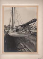 Lot De 3 Photographies Originales - Voilier Gina - Saint Nazaire - Dimensions Photo 16.5x23cm - Schiffe