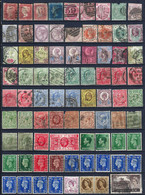GRANDE BRETAGNE - 79 TIMBRES OBLITÉRÉS - BELLES OBLITÉRATIONS - ANNÉES ENTRE 1858 Et 1955 - BONNES VALEURS - Collezioni