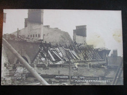 Postkarte Revolution München 1918 1919 Freikorps Spartakus Mathäserbrauerei - Oorlog 1914-18