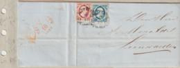(A421) Brief 6-10-1855 Rotterdam Naar Leeuwarden Met NVPH 2  En NVPH 1 - Brieven En Documenten