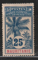 MAURITANIE - N°7 * (1906) Palmiers : 25c - 1906-08 Palmiers – Faidherbe – Ballay