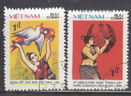 Vietnam 1985 - (1) 10 Years Of The People's Democratic Republic Of Laos, Mi-Nr. 1641/42, Used - Vietnam