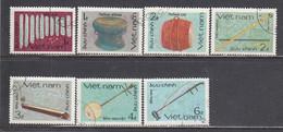 Vietnam 1985 - Traditional Musical Instruments, Mi-Nr. 1643/49, Used - Vietnam