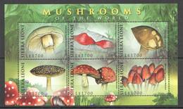 G599 2009 SIERRA LEONE MUSHROOMS OF THE WORLD NATURE FLORA 1KB MNH - Mushrooms