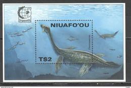 RR652 1995 NIUAFO'OU ANIMALS DINOSAURS SINGAPORE BL291 MICHEL 1BL MNH - Prehistorics