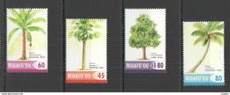 RR712 2004 NIUAFO'OU NATURE PLANTS FLORA FRUITS TREES #421-24 SET MNH - Trees