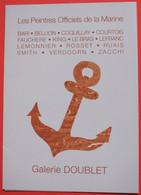 Plaquette Vernissage Exposition Les Peintres Officiels De La Marine - Galerie Doublet à Avranches 12 Mai Au 12 Juin 2012 - Programs