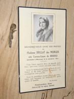 Noblesse : Faire Part Deces De Mme BRILLAT DES MURGER Née Carmen Laure DE BRIDIEU - 1941 ................ 1076 - Esquela