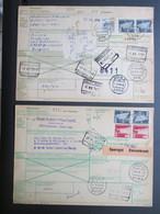 """Paketkarte Uit """"Kemnath"""" & """"Iserlohn"""" Naar Resp. Schellebelle & Aalst - Covers & Documents"""