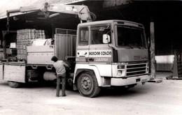 Photo Originale Camion Grue Berliet Bois & Matériaux Agnona-Colon Jarny Vers 1980 - Auto's