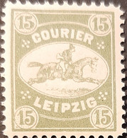 Germany Stadtpost/Privatpost Leipzig 1892 15 Pfg Unused Michel 10 - Sello Particular