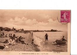 8. CROS-DE-CAGNES  (A - M ). -  LA PLAGE.  TRES ANIME. A Circulé En 1933. ETAT NEUF. Barque. Voir SCANS Recto-verso - Other Municipalities