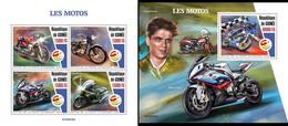 Guinea 2020, Sport, Motorbyke, 4val +BF - Moto