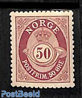 Norway 1909 50o, Stamp Out Of Set, (Unused (hinged)), Stamps - Ungebraucht