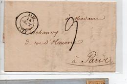 LAC Cachet T14 Albi Avec Cachet Taxe 2  Pour Paris Du  14/9/1838 - 1801-1848: Vorläufer XIX