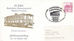 BRD,  PU 115 D2/045,, BuSchl 60, München : Eisenbahn, Salonwagen König Ludwig II. - Private Covers - Used