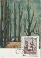 Tchécoslovaquie Carte Maximum 1985 Peinture 2657 - Cartas