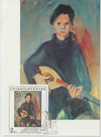 Tchécoslovaquie Carte Maximum 1986 Peinture 2702 - Cartas