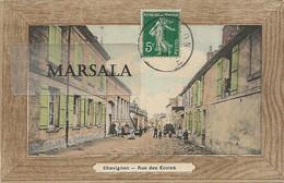 CPA  Chavignon  Rue  Des écoles  (Colorisée) - Andere Gemeenten