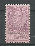 Timbre  Belgique En Neuf **  N 66 - 1893-1900 Thin Beard