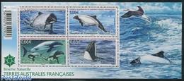 French Antarctic Territory 2014 Sea Mammals 4v M/s, (Mint NH), Nature - Sea Mammals - Ungebraucht