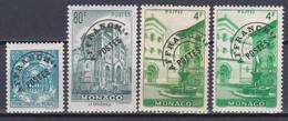 Monaco Timbres Poste Suchargés 1943-51 Préoblitérés N°1-2-3-3a Neuf*charnière - Préoblitérés