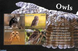 Guyana 2020 Owls 4v M/s, (Mint NH), Owls - Birds - Birds Of Prey - Guyana (1966-...)