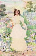 DC3441 - Schöne Motivkarte Junge Dame Mit Hut - Mujeres