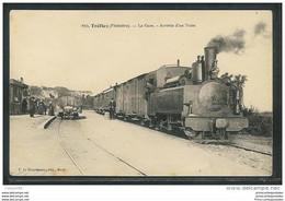 CPA 29 Treflez La Gare Et Le Train Tramway Ligne De Brest à Saint Pol De Leon - Sonstige Gemeinden